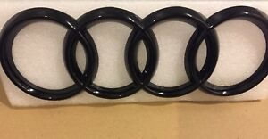 Black-Gloss-Front-Grille-Badge-Rings-Logo-Emblem-Audi-A3-A4-A5-A6-Sline-273x94