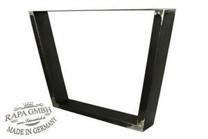 Tischgestell schwarz Rohstahl 600 x 720 Auflage 800 Platte im Paar / 2 Stück