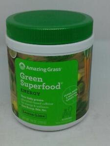 Amazing Grass Green Superfood Energy Drink Powder Lemon Lime 7.4oz