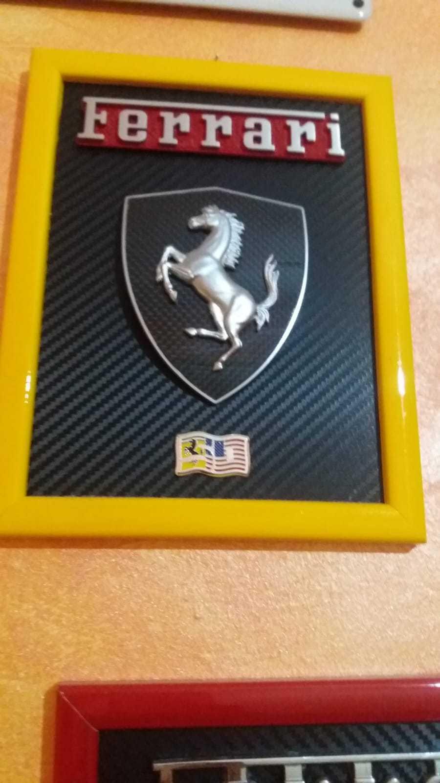 Quadro ,picture Scuderia Ferrari Emblem ,badge Scudetto scritta