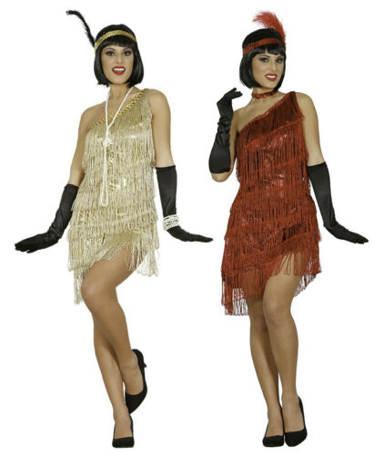 Ladies 20s 30s Flapper Costume Womens Charleston Fancy Dress Jazz Gatsby Outfit