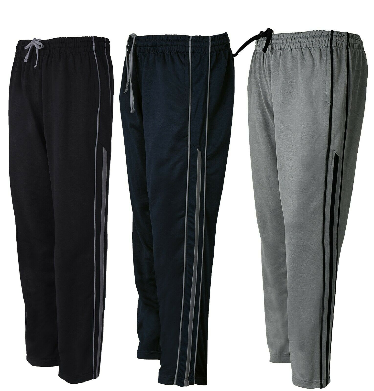Mens Gym Slim Fit Trousers Tracksuit Bottoms Joggers Sweat Track Pants UK