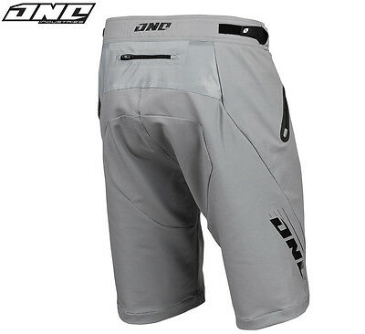 One Industries Ion MTB Cycling Shorts Grey With Liner Bicycle Trail Riding Mens