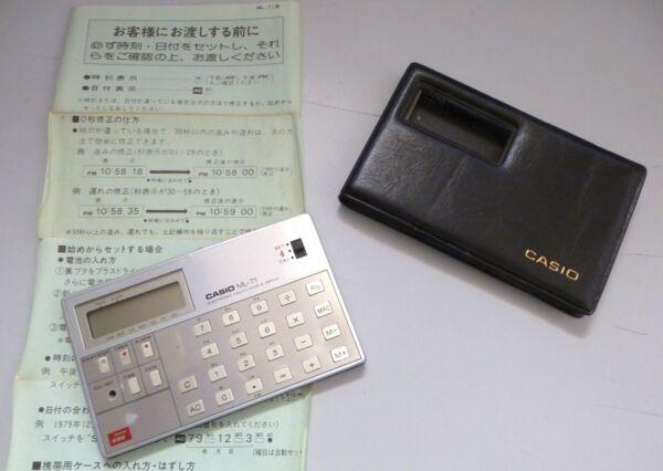 MetóDico Calculadora Musical Casio Ml-71 Con Funda + Manual (japonés). Año 1980 Tiempo Puntual