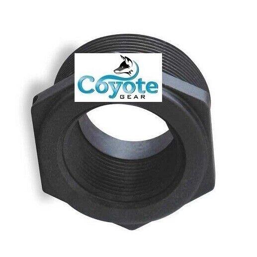 "Sch//80 3//4/"" Male x 3//8/"" Female NPT Hex Reducer Bushing Black PVC Coyote Gear"