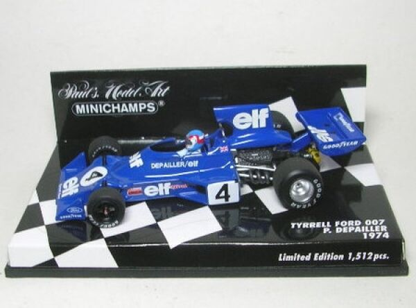 Tyrell Ford 007 No. 4 p. Depailler formule 1 1974