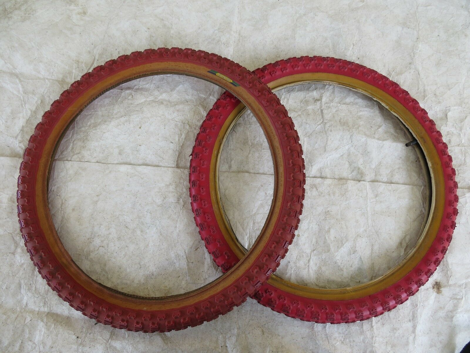 TIOGA COMPETITION 3 TIRES  BMX RACING 20'X175 +2.125  VINTAGE