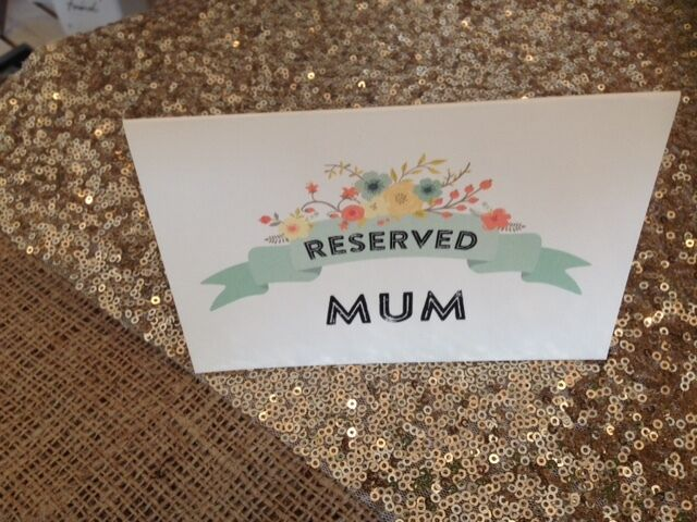 Vintage/Rustic/Shabby Chic floral Personalised Reserved Sign-Carolyn Range