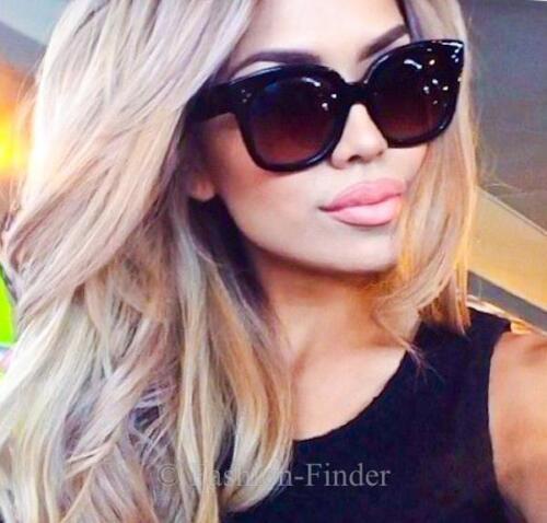 Large TILDA Glossy Flat TOP Square Retro AUDREY Fashion Oversized Sunglasses XL