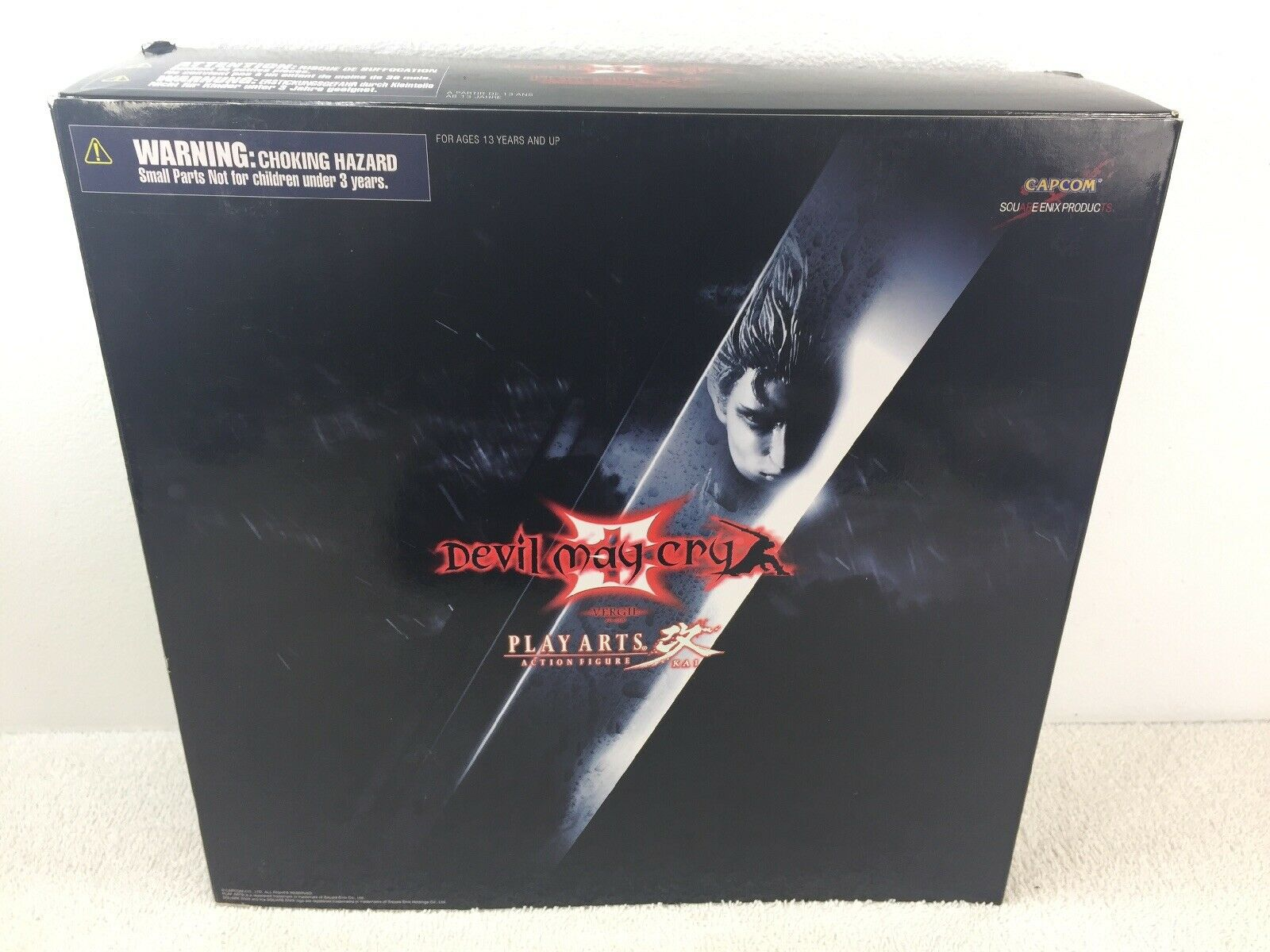 Devil May Cry 3 Play Arts Kai Vergil 9.5  tall Collectible Figure In Box Capcom