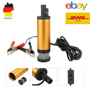 12L/min KFZ Diesel Öl Wasserpumpe Edelstahl Tauchpumpe 3M 12V Bootpumpe Transfer