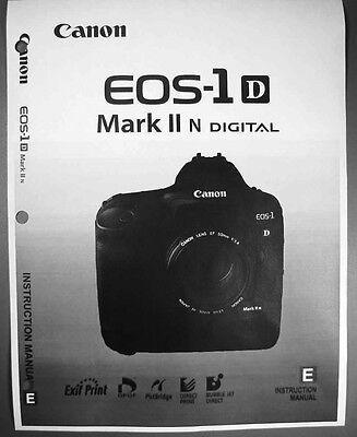 Canon EOS 1D Digital Camera User Instruction Guide  Manual