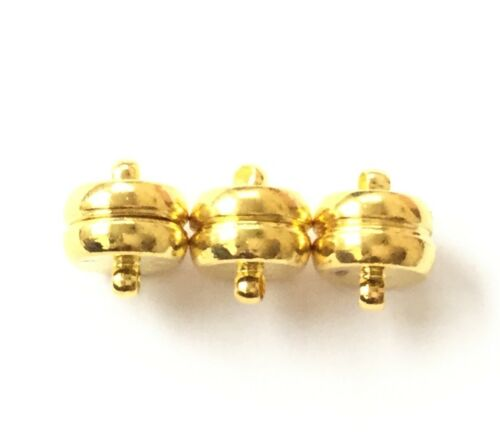 10mm Gold Plated Fancy Smooth Magnetic Clasp Beading Supplie