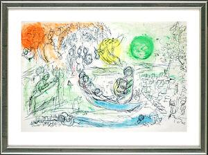 Marc-Chagall-1887-1985-Original-Lithographie-Le-Concert-1957