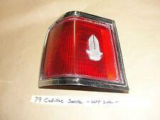76-79 Cadillac SeVille LEFT TAIL LIGHT TAILLIGHT LENS ASSEMBLY BEZEL EMBLEM TRIM
