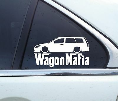 for Mitsubishi lancer station wagon 2000–2007 Lowered WAGON MAFIA sticker