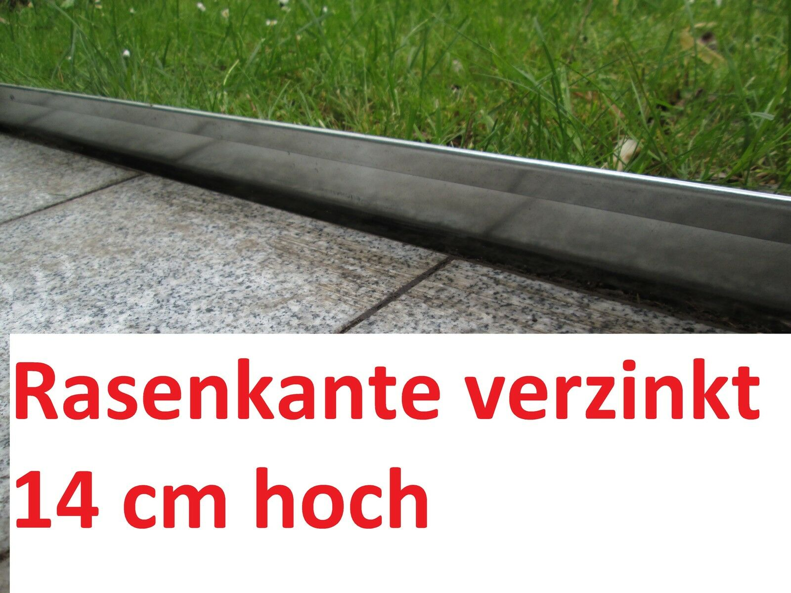 15 Meter Rasenkante Metall 14 cm hoch BeeteinfasSolg Rasenkante Mähumrandung