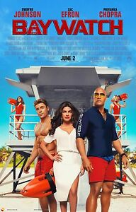 Baywatch Movie Poster 24x36 - Dwayne Johnson Zac Efron Daddario v2