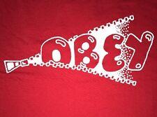 OBEY PROPAGANDA BUBBLE LETTERS RED T SHIRT MENS XLARGE EUC XL