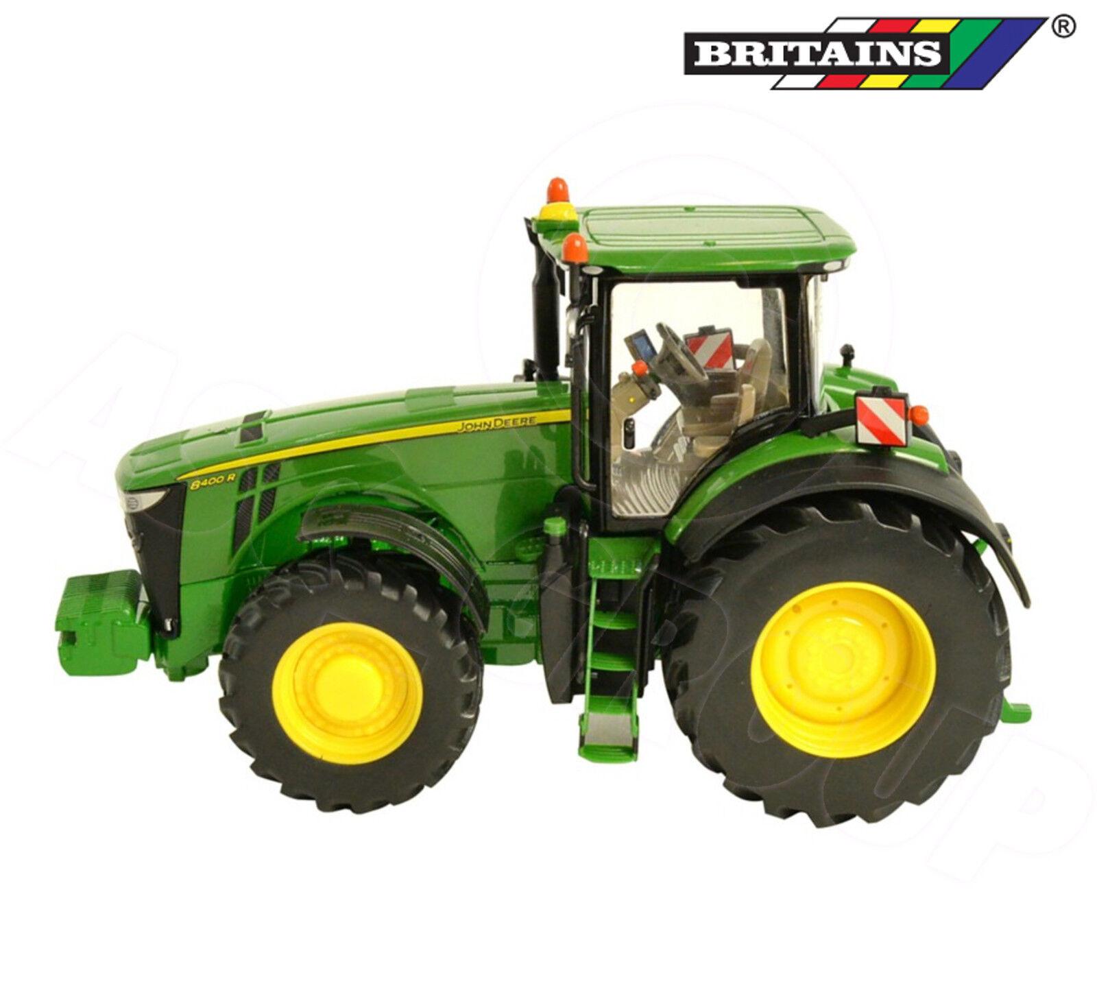 Britains 43174 - John Deere 8400R Tractor - Detailed Die-Cast Model Toy - 1 32