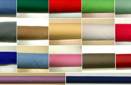 Plain Polycotton Fabric Coloured Solid Dress Craft Best Quality Low Price