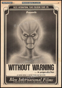 WITHOUT WARNING__Original 1978 Trade AD promo / poster__JACK PALANCE__It Came...