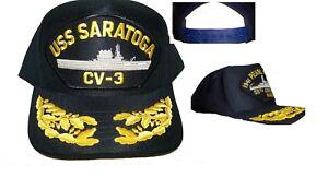 9a9e8be959209 États-unis Marine Casquette Original Uss Saratoga Fabriqué aux États ...