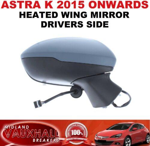ASTRA K ELECTRIC HEATED PRIMED DRIVERS SIDE WING MIRROR SRI SE ELITE DESIGN