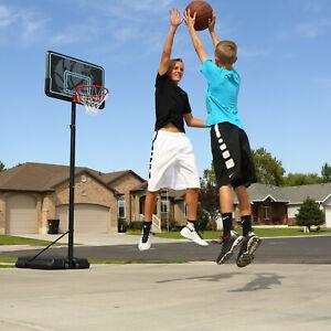 Portable-Outdoor-44-034-Basketball-Hoop-Adjustable-USA-Backboard-Pole-Classic-Rim