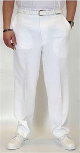 Emsmorn bowls bowlswear clothing - MW-TRW Mens white trousers