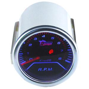 Car-Motor-Pointer-Smoke-Tint-Len-2-034-52mm-Tacho-Tachometer-Gauge-Meter-Dials-Face