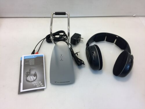 Sennheiser RS120 On-Ear Wireless RF Headphones System with Charging Dock