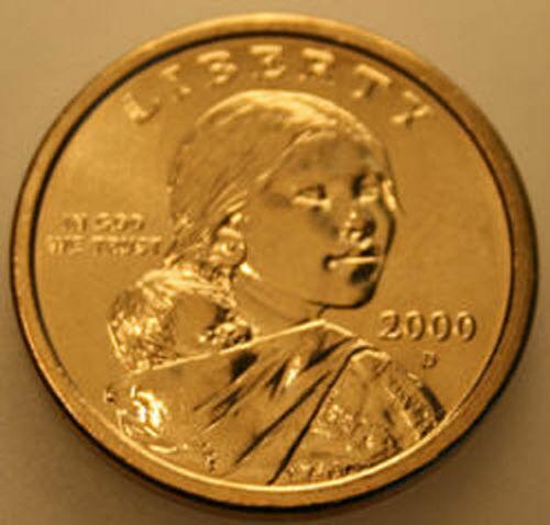 2000-D Sacagawea Native American Dollar Uncirculated BU Golden
