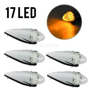 31 LED Amber Truck Cab Marker Running Lights Waterproof Top Roof for Peterbilt//Kenworth//Freightliner//Volvo//Western Star//Mack//International//Paccar Trailer Trucks 5 Packs