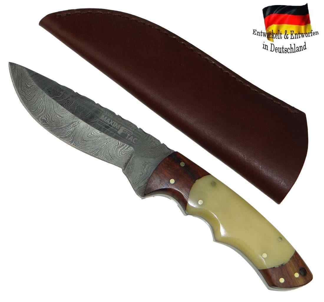 XL Damastmesser 235mm Full-Tang Damast Damast Damast Damaszener Jagdmesser Kamelknochen Griff 341ce1