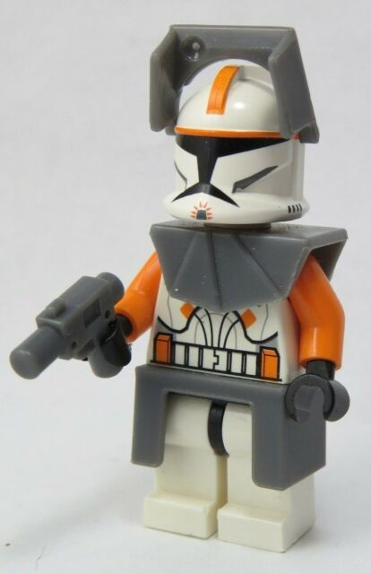 Lego Starwars Captain Rex Minifigure Sw194 Red Clone Trooper Sw091