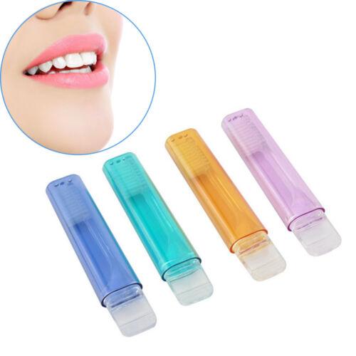 2pcs Color Random Reisezahnbürste Zahnschutz Weiche Mittelbürsten Mundpflege