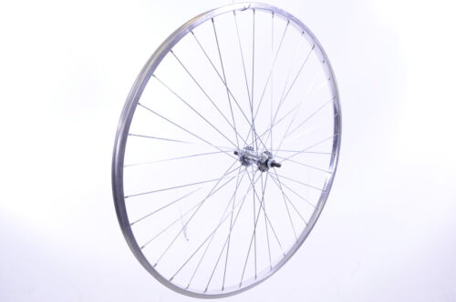 "27 x 1 1//4"" FRONT /""CHROME LOOK /""ALLOY  WHEEL  FOR SPORTS  OR ROAD BIKE"