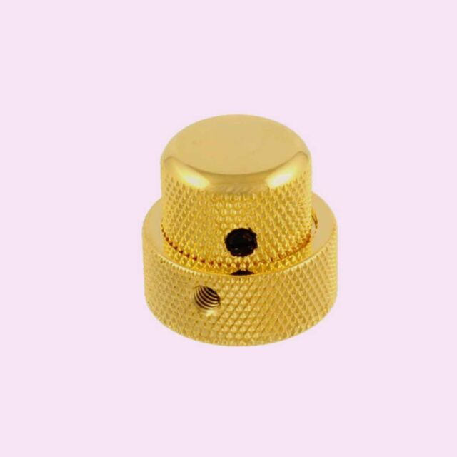 Bouton Double Superpose pour 25x19 Concentric Pot Stacked Dome Knob Gold MK0137
