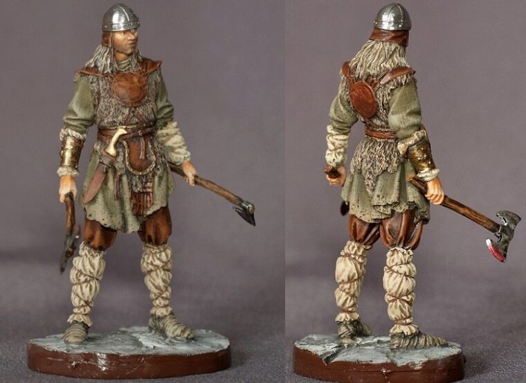 Tin toy soldiers ELITE painted 54 mm  viking