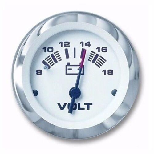 """Sierra Lido 65506P Voltmeter 8-12-18 Volt DC Gauge 2/"""" Inboard Outboard Boat MD"""