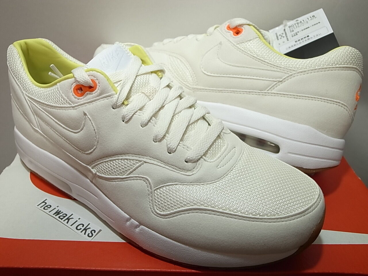 reputable site becb1 e3ad5 85%OFF 2013 A.P.C. x NIKE AIR MAXIM 1 APC SP White/White-Total ...