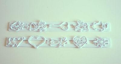 Valentines Hearts & Cherubs Tappit Cutters Fondant Sugarcraft Cake Decorating