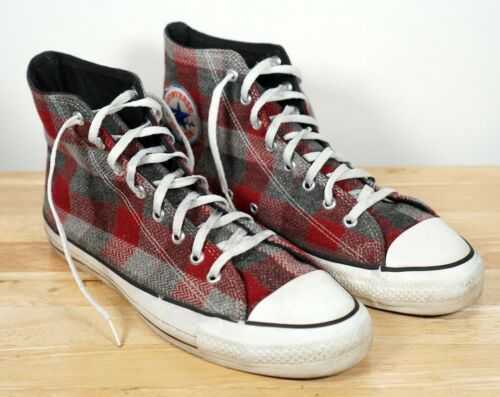 Vintage CONVERSE All Star Chuck Taylor Red Gray Pl