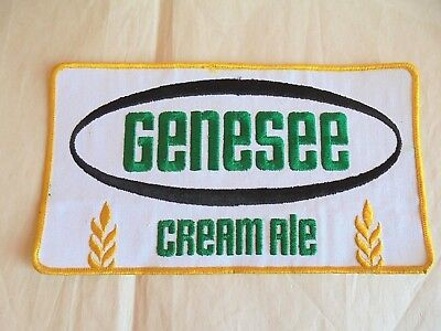 """Genesee Beer  Uniform or Shirt Patch  5/"""" X 8/"""" Oval"""