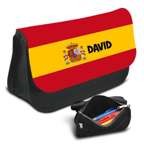 Spain Personalised Pencil Case Game School Bag Kids Stationary