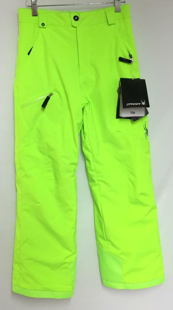 Spyder Junior Boys Propulsion Snow Ski Snowboard Bib Pants Bryte Green Sz 16 NEW