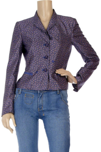 ROBERTO CAVALLI Purple Silk Blazer rrp $2,000size IT 44 or UK 12