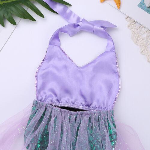 Bébé Sirène écailles de poisson Costume Toddler Filles Fête D/'Anniversaire Robe Tutu Tenues