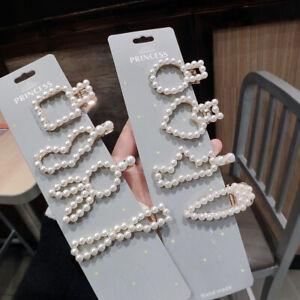 Fashion-Women-039-s-Pearl-Barrette-Hairpin-Slide-Hair-Clips-Hair-Pins-Accessories